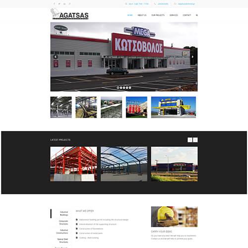 agatsas ιστοσελίδα μεταλλικές κατασκευές κτηρίων